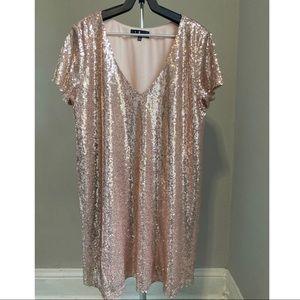 Blush Sequin Lulu's Shift Dress